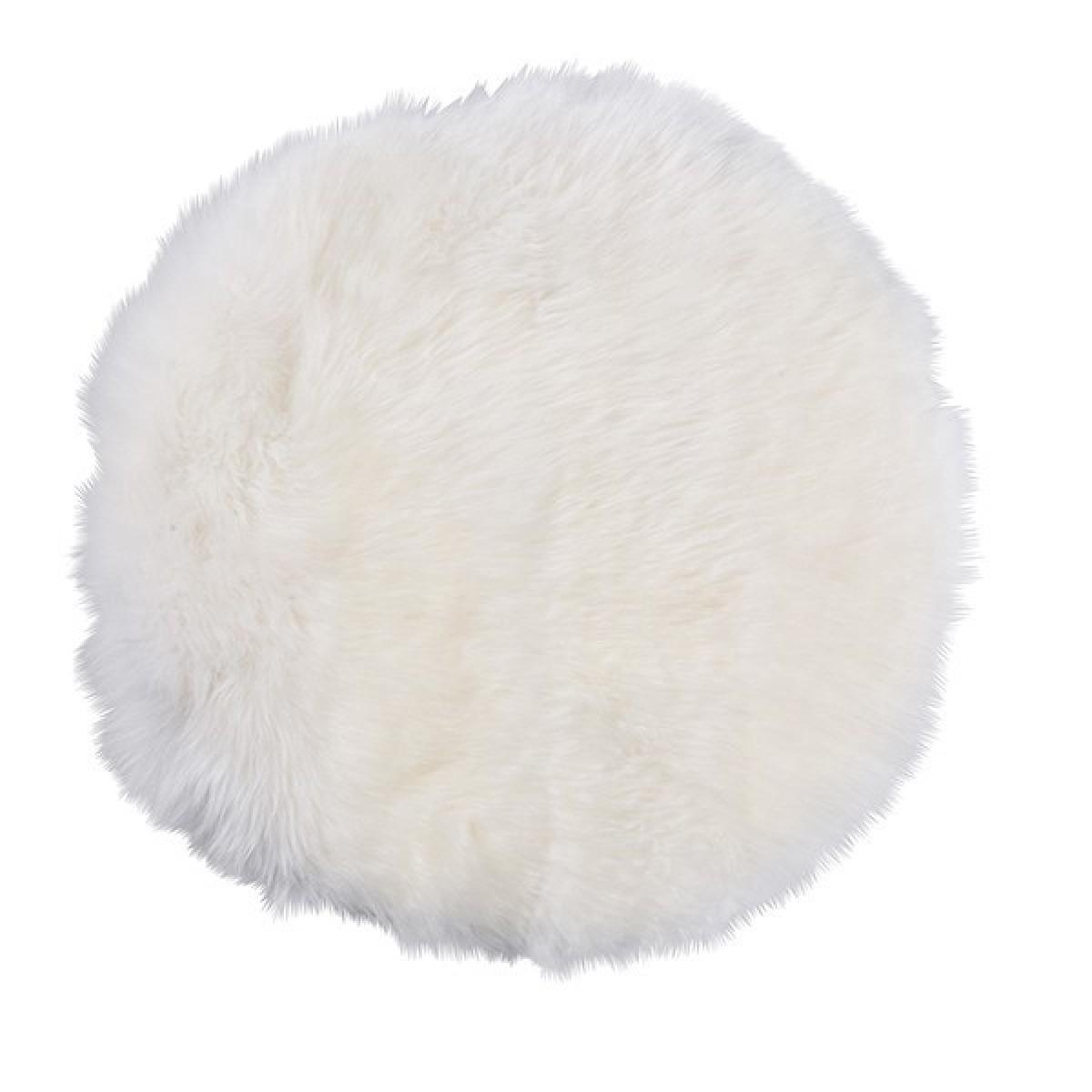 DACORE Sædehynde imiteret lammeskind rund hvid 37 cm.