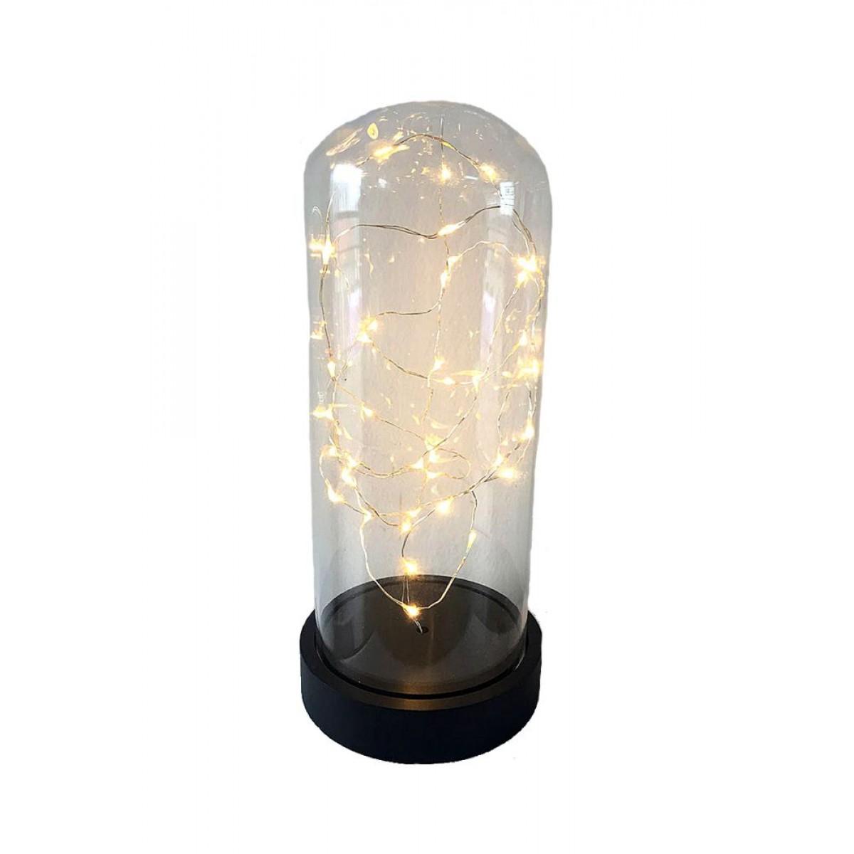 CONZEPT glaskuppel 26 cm. 40 LED