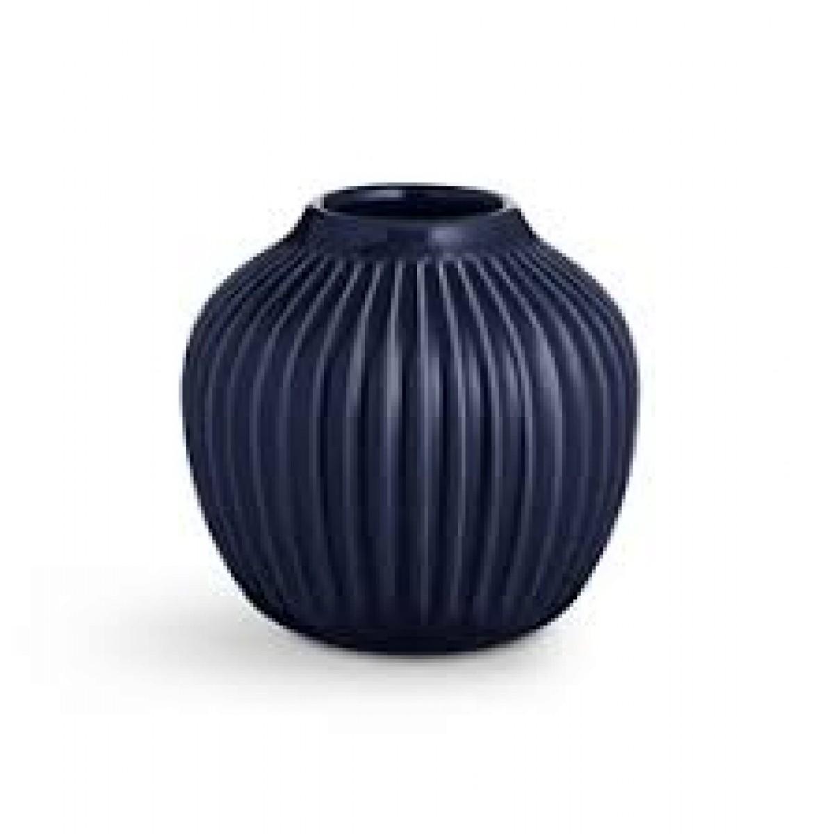 KÄHLER Hammershøi vase indigo blå 12,5 cm.