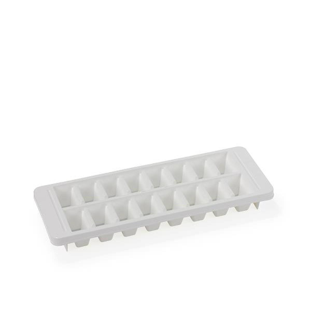 Isterningsbakke i hvid plast