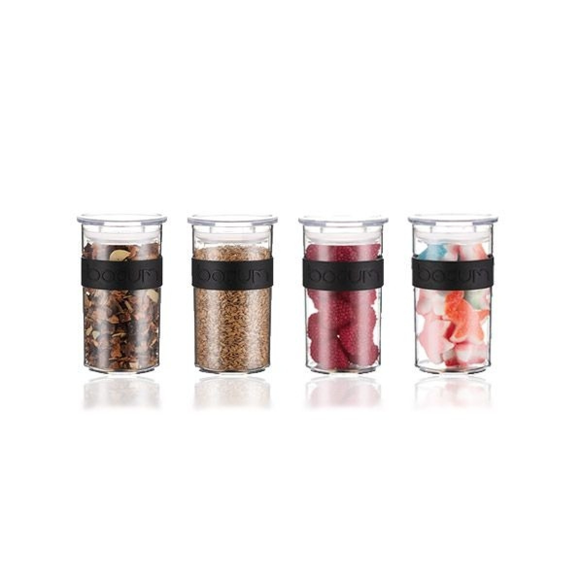 BODUM Opbevaringsglas presso 0,25 ltr brudsikkert 4 stk