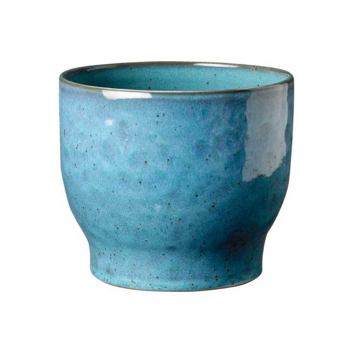 KNABSTRUP Keramik Urtepotteskjuler, støvet blå, Ø14,5 cm