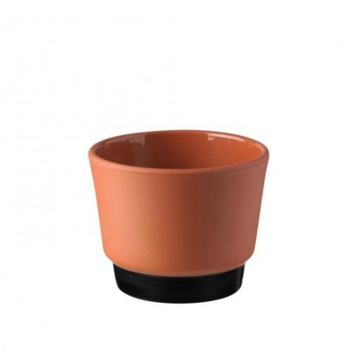 KNABSTRUP Urtepotteskjuler terracotta/sort 11,5 cm