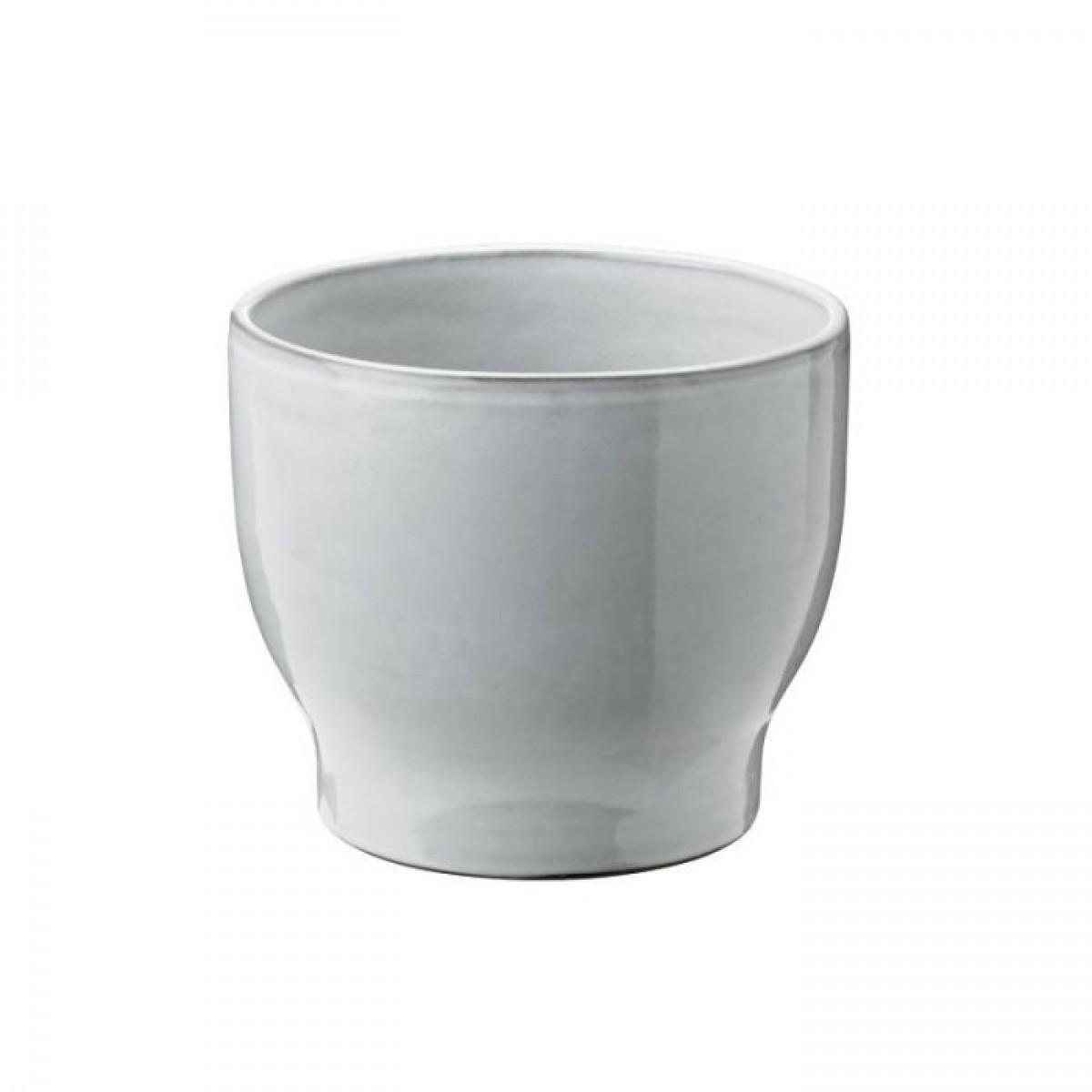 KNABSTRUP Keramik Urtepotteskjuler, hvid, Ø14,5 cm