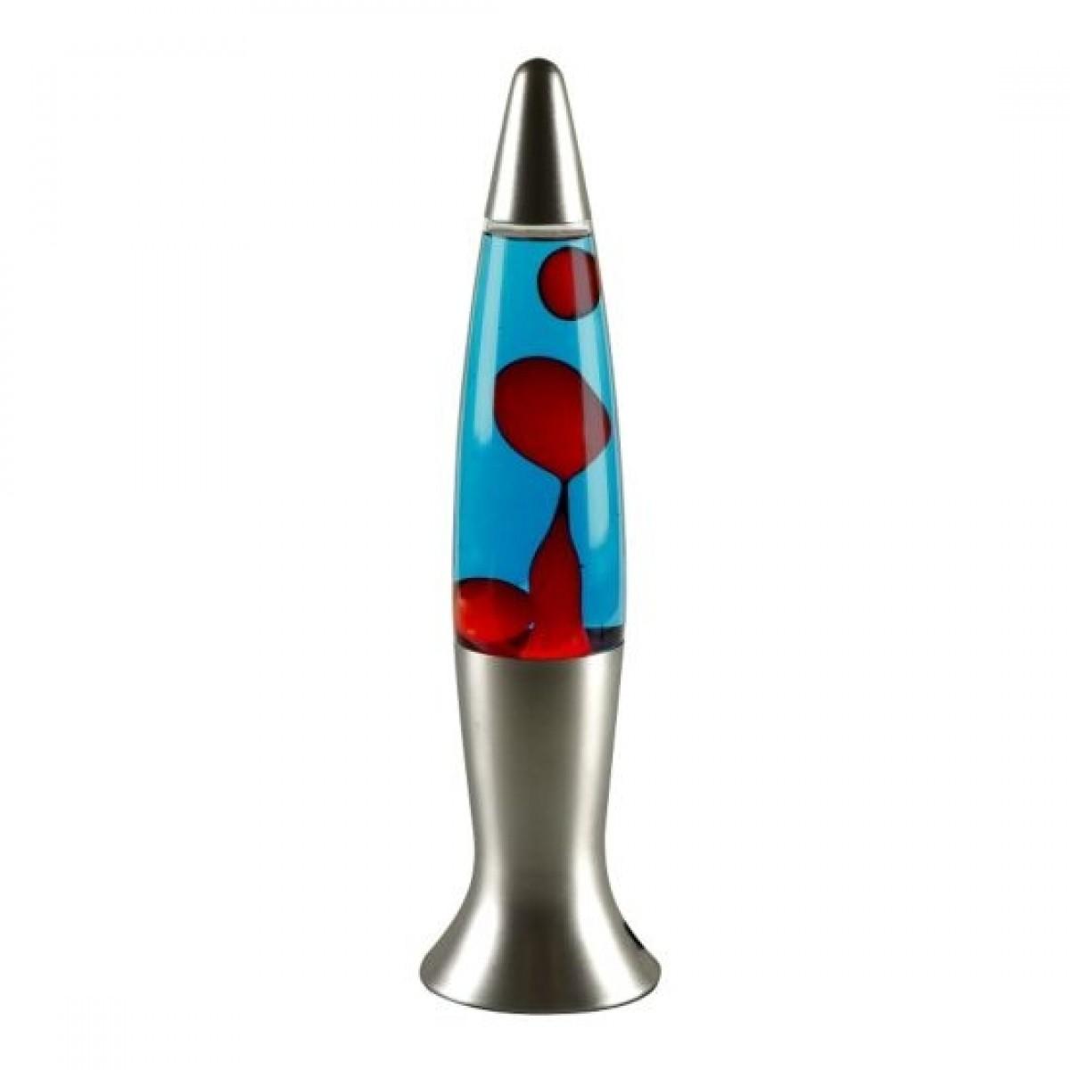 VELILINE Lavalampe steel line rød/blå 40 cm