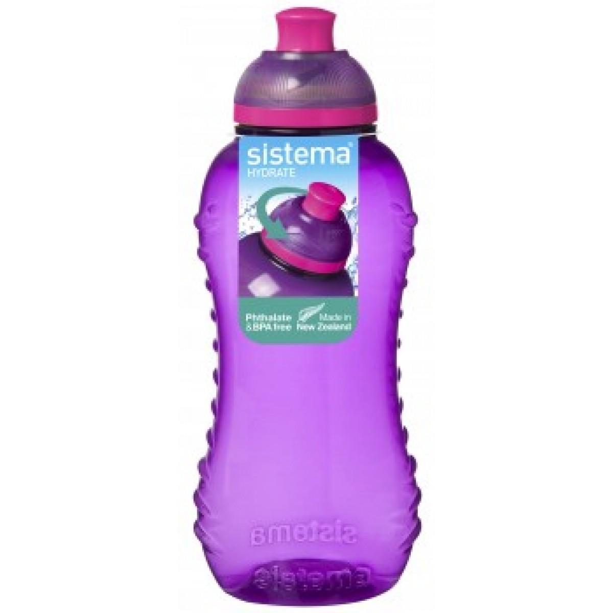 SISTEMA Drikkedunk lilla 330 ml twist 'n' sip