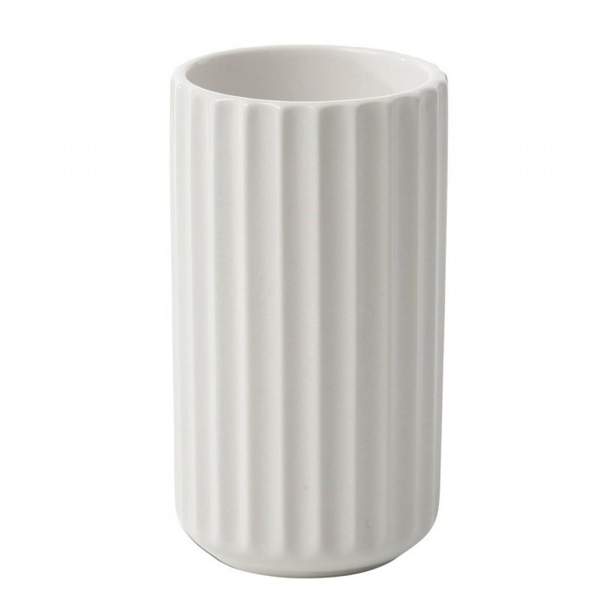 LYNGBY Vase hvid 20 cm.
