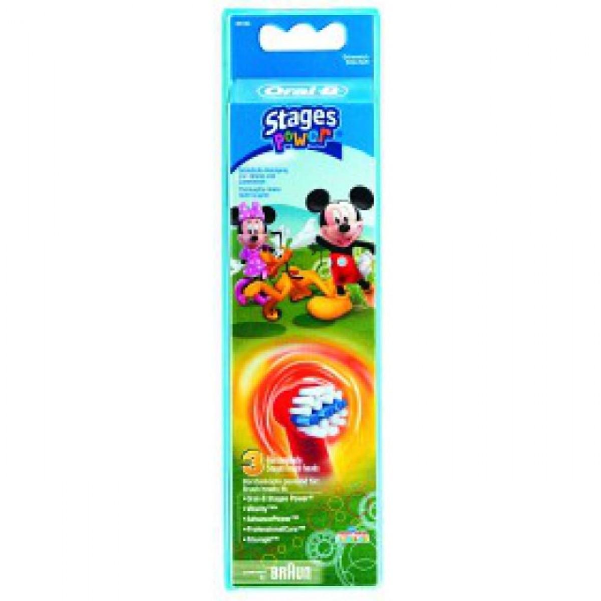 ORAL-B Børstehoveder kids mickey mouse 3 stk