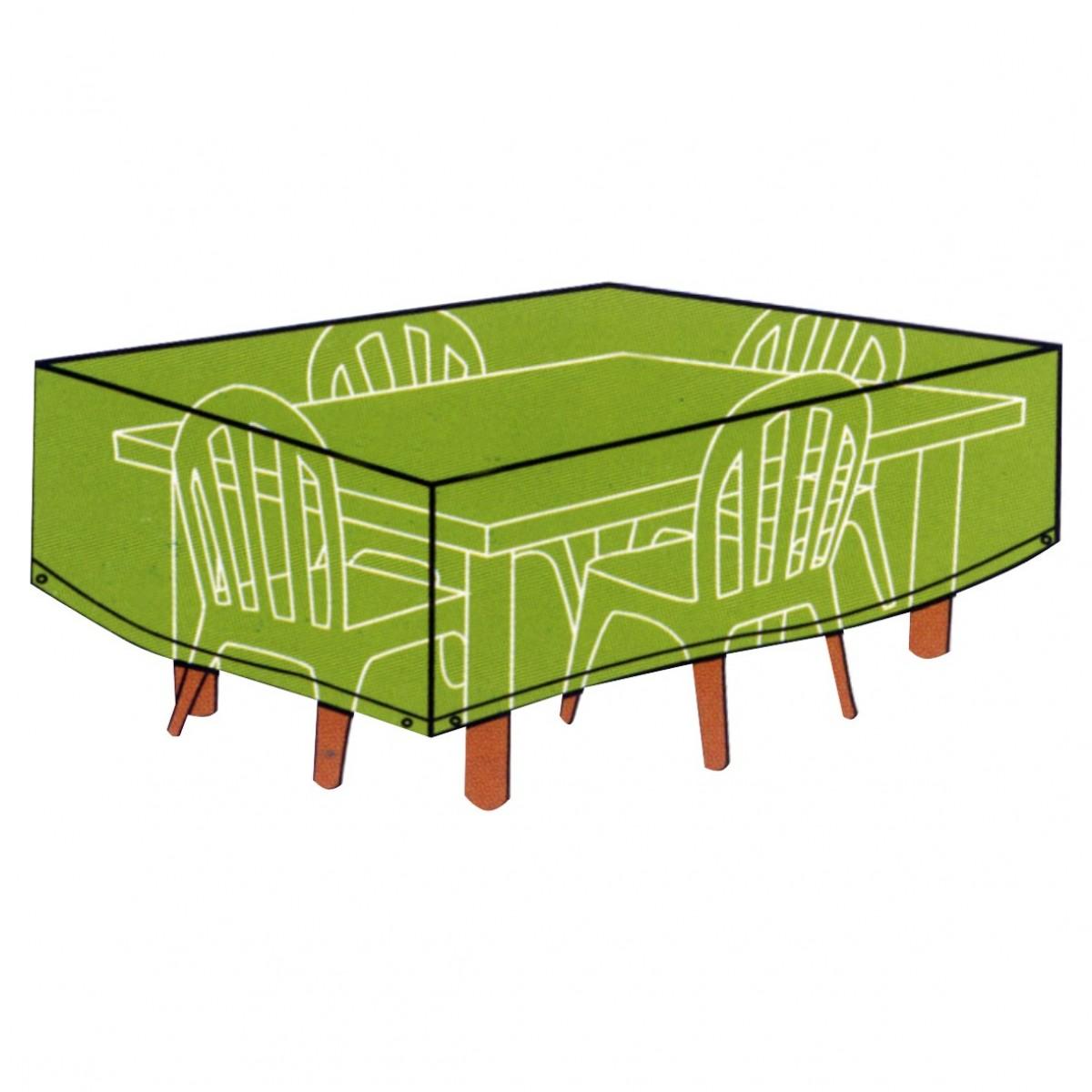 CONZEPT Overtræk til havemøbler firkantet bord med stole 140 x 125 x 90 cm.