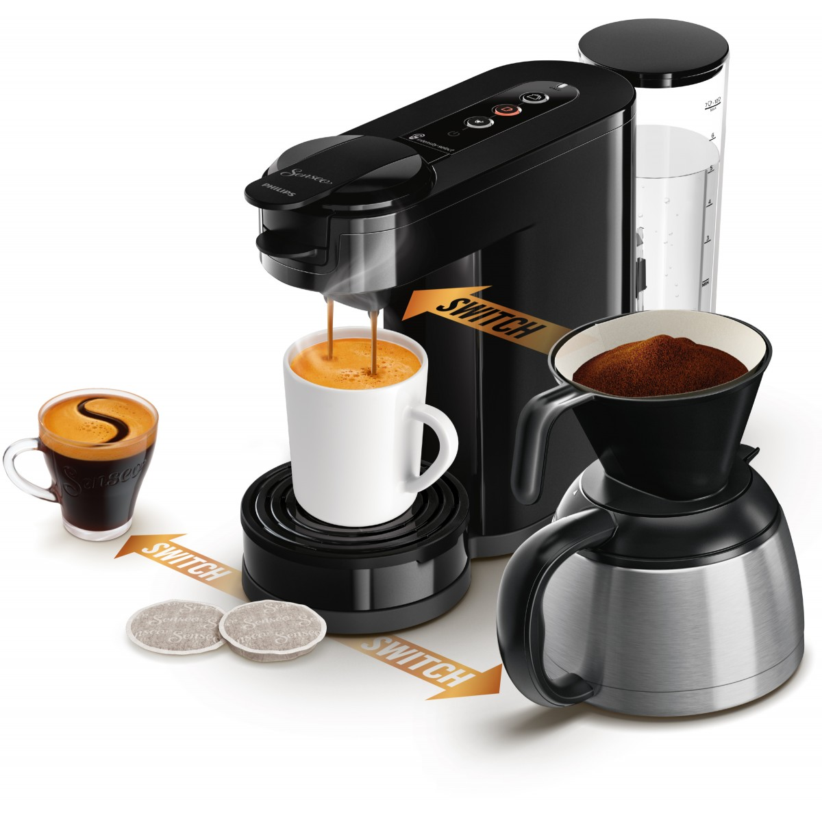 PHILIPS Senseo kaffemaskine sort