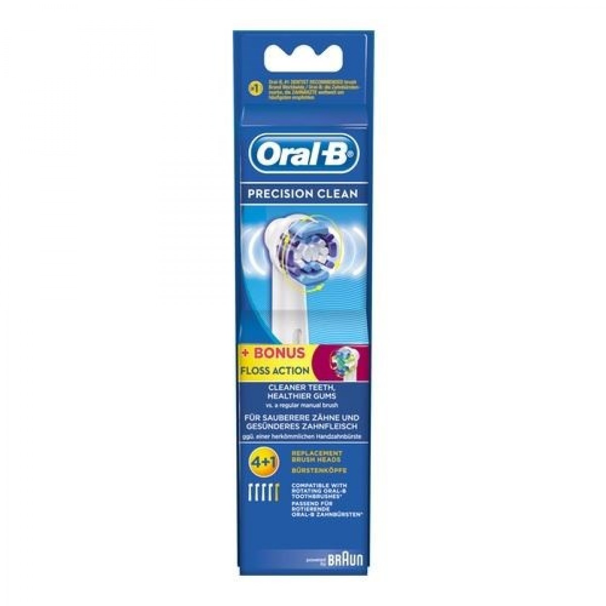 ORAL-B Børstehoveder precision clean 4 stk + floss action 1 stk