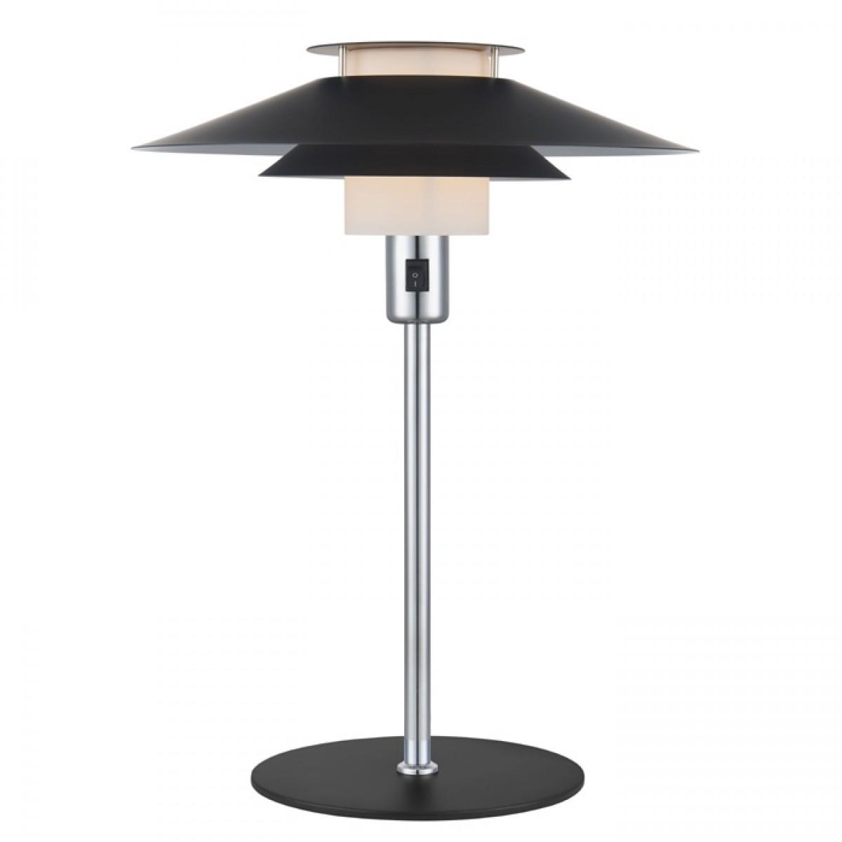 HALO DESIGN Bordlampe rivoli sort/krom ø24 cm.