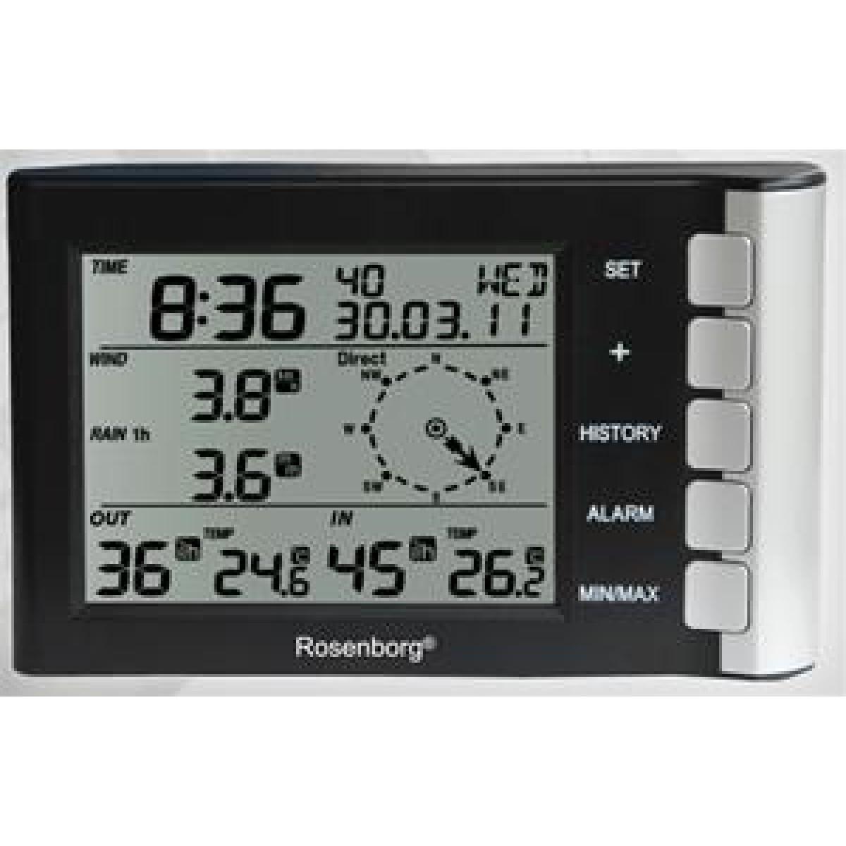 ROSENBORG Vejrstation med vind og -regnmåler