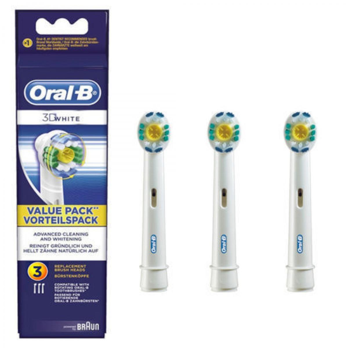 ORAL-B Børstehoveder 3D white 3 stk.