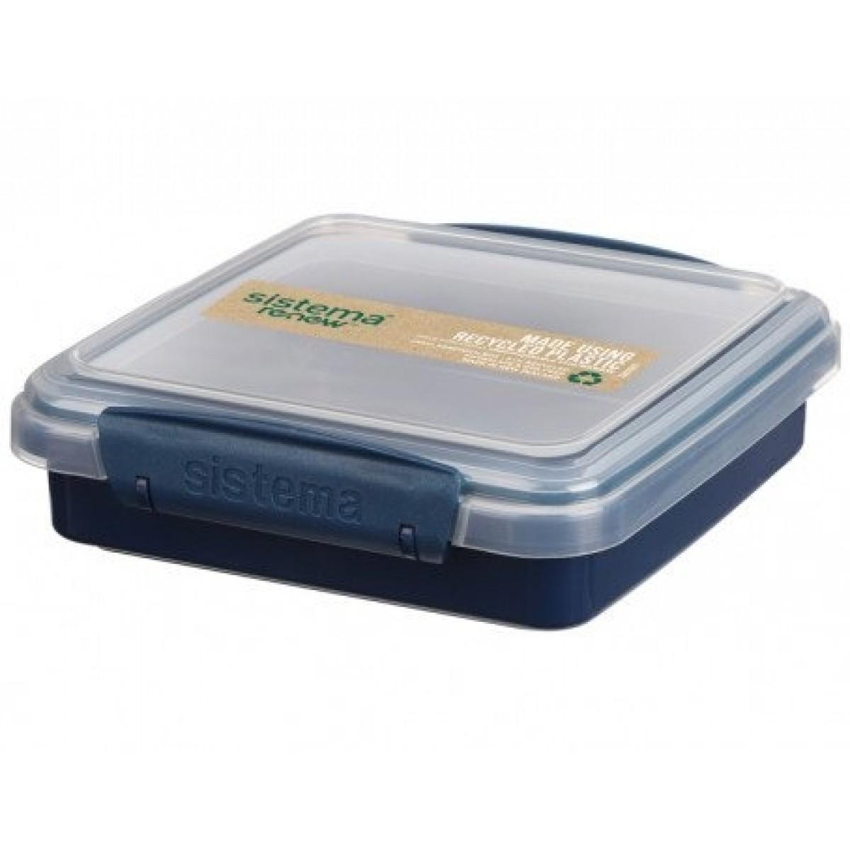 SISTEMA Sandwich boks, kvadratisk renew - blå