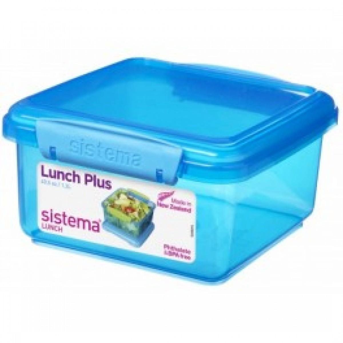 SISTEMA Madkasse lunch plus blå 1,2 ltr.