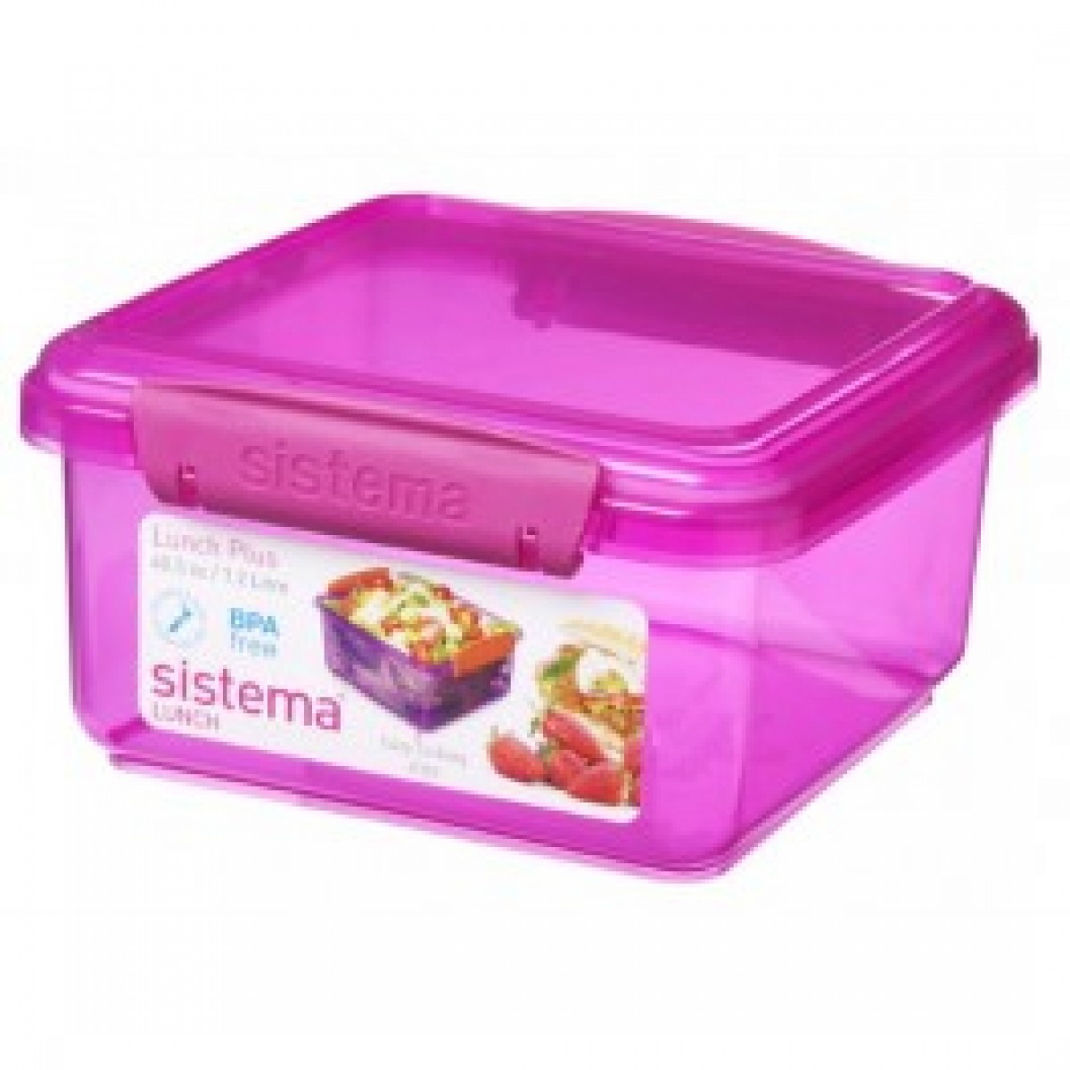 SISTEMA Madkasse lunch plus pink 1,2 ltr.