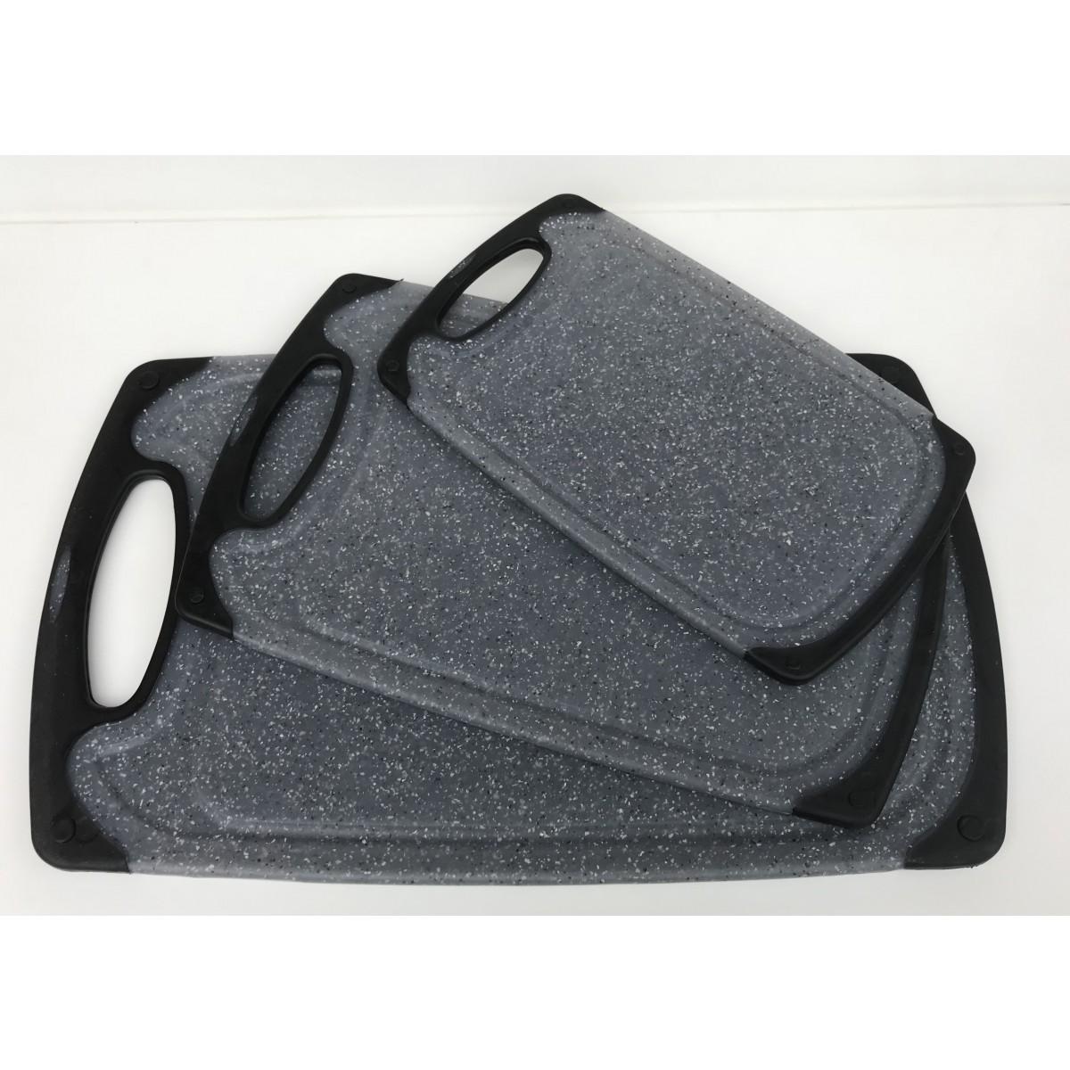 CONZEPT Skærebræt grå plast 25 x 15 x 0,9 cm.