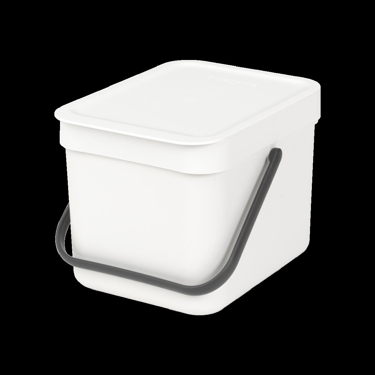 BRABANTIA Affaldsspand m/ låg - affaldssortering. 6 ltr. hvid
