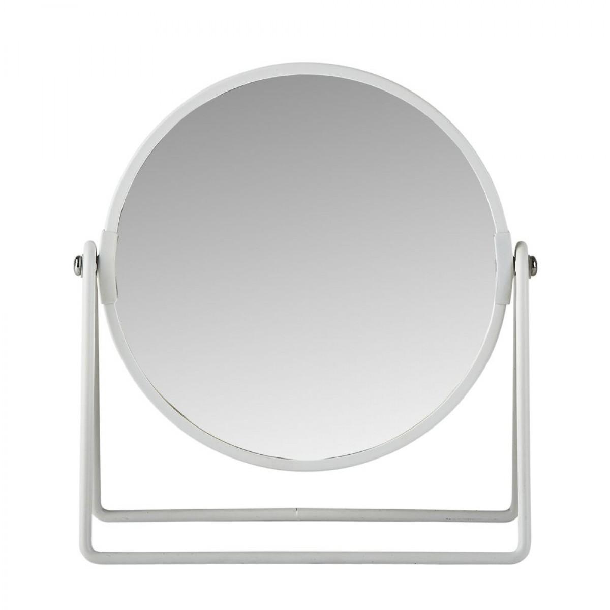 Bordspejl hvid 20 cm Ø