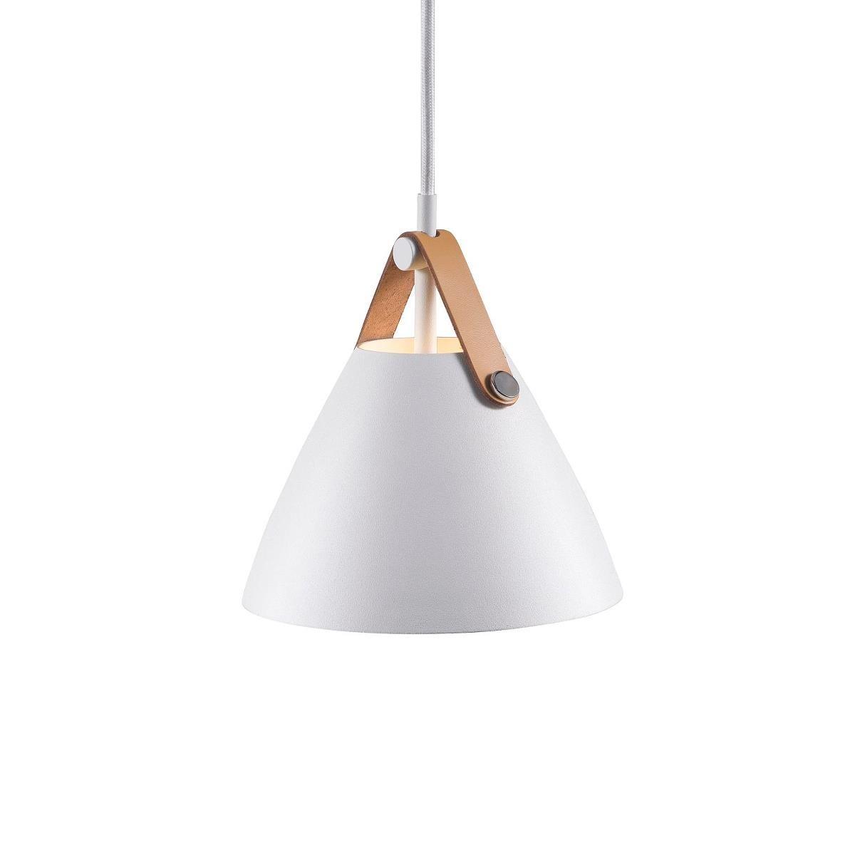 NORDLUX Strap 16 pendel hvid metal / læder