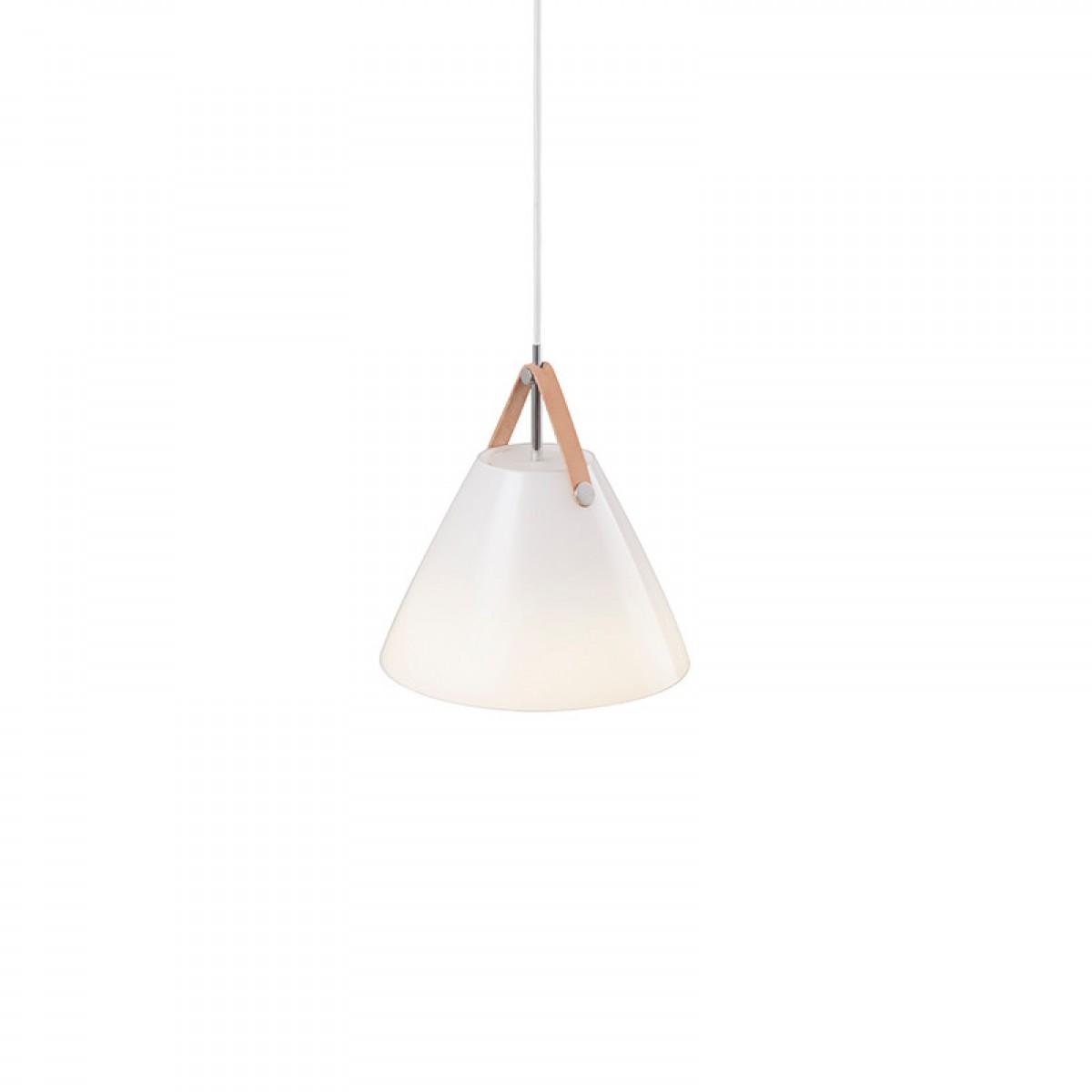 NORDLUX Strap 27 pendel opal glas / læder