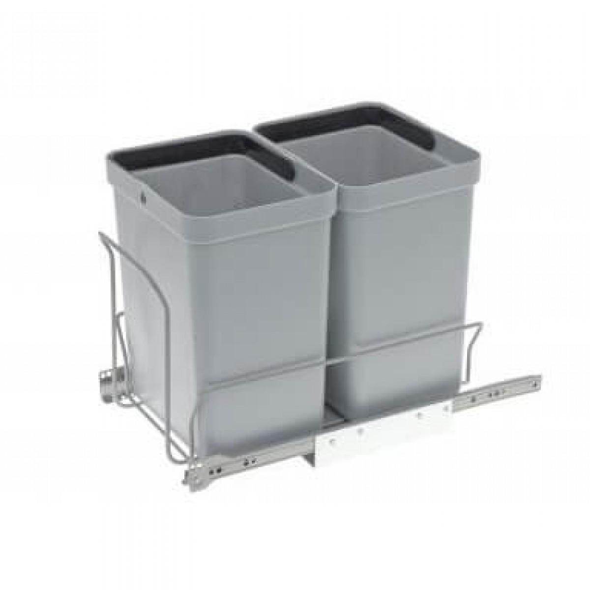 Affaldsstativ m. 2 stk affaldsspande på 10 ltr