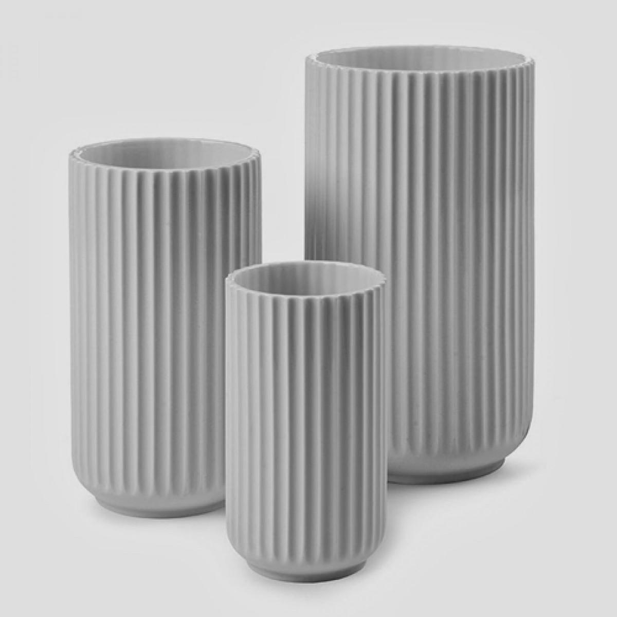 LYNGBY Vasesæt grå 3 stk. 8 + 10 + 12 cm.