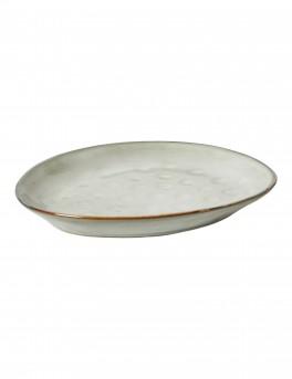 DACORE Desserttallerken stentøj 22x18 cm blank stone