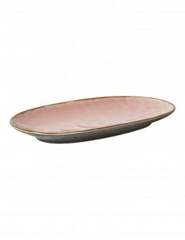 DACORE Serveringsfad ovalt lille - rosa/sort
