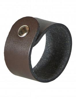 DACORE Servietring genbrugslæder 6 stk - mørke brun