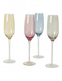 DACORE Indfarvet champagne glas 20 cl - 4 stk