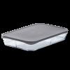ROSENDAHL Låg til fad 38x25,5 cm grå