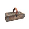DACORE Trækasse med læderhank genbrugstræ