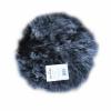 Sædehynde imiteret lammeskind mørke grå ø 37 cm.