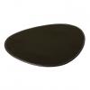 DACORE Dækkeserviet oval sort læderlook