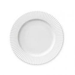 LYNGBY Tallerken hvid 20 cm.