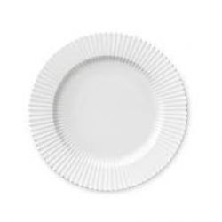 LYNGBY Tallerken hvid dyb 21 cm.