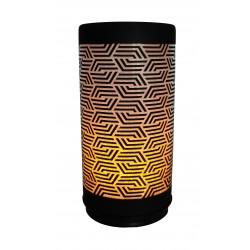 CONZEPT Glascylinder flammeeffekt 15 cm mønster