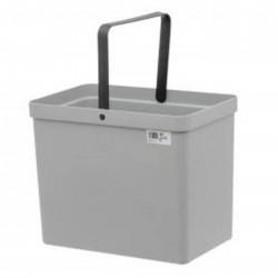 Affaldspand i grå plast - 21 ltr