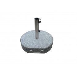 Parasolfod i granit - 50 kg m/hjul
