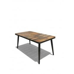 Paris lux havebord 85 x 163,5 cm - træstruktur