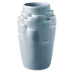 KNABSTRUP Keramik plateau vase - lys blå 17 cm