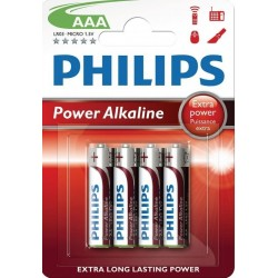 "PHILIPS Batterier ""AAA"" 4 pk"
