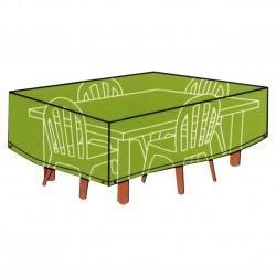 CONZEPT Overtræk til havemøbler firkantet bord med stole 215 x 170 x 105