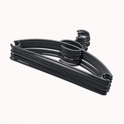 Plastbøjler 8 stk sort