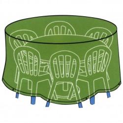 CONZEPT Overtræk til havemøbler rundt bord med stole ø 200 x 80 cm.