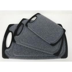 CONZEPT Skærebræt grå plast 31,5 x 20 x 0,9 cm